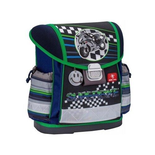 Купить Belmil Ранец Classy Superbike 403-13/534), серый/зеленый, Рюкзаки, ранцы