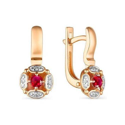 Фото - АЛЬКОР Серьги с рубинами и бриллиантами из красного золота 23537-103 алькор серьги с рубинами и бриллиантами из красного золота 23503 103