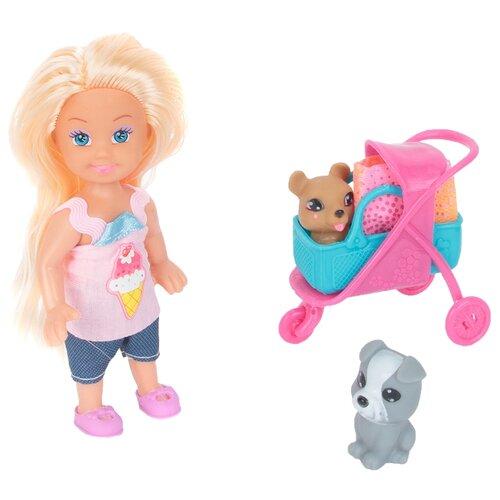 Кукла Игруша с собачками, 9 см, i-k899-19 машины игруша машина i wj950 12 i 2220 i wj950 9