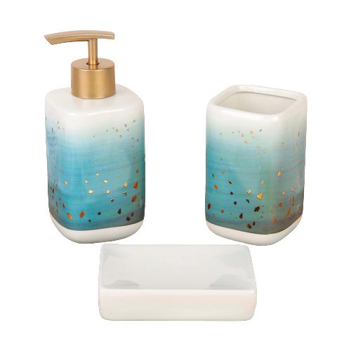 Фото - Набор для ванной Доляна Нептун, синий набор для ванной доляна грация 2698471 персиковый