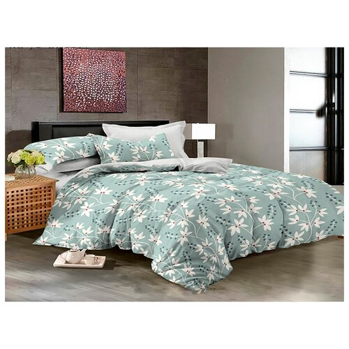 Постельное белье 2-спальное с евро простыней Бояртекс Luxor 27828 сатинКомплекты<br>