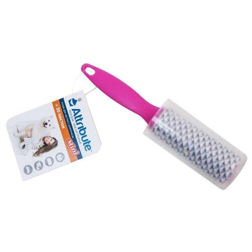 Attribute ролик мини клеящийся с колпачком, 30 листов розовый