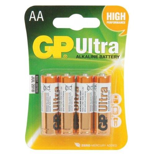Фото - Батарейка GP Ultra Alkaline AA, 4 шт. gp gpu811 и 4 аккум aa hr6 2700mah адаптер gpu811gs270aahc 2cr4