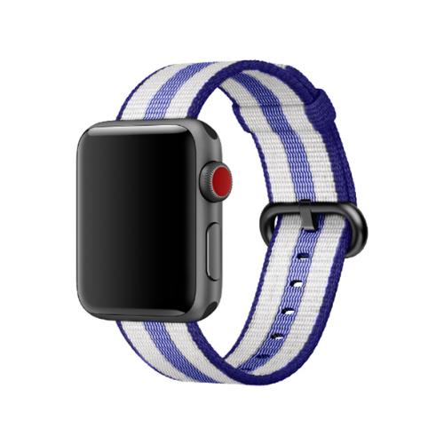 Купить CARCAM Ремешок для Apple Watch 42mm Woven Nylon синий/черный/голубой