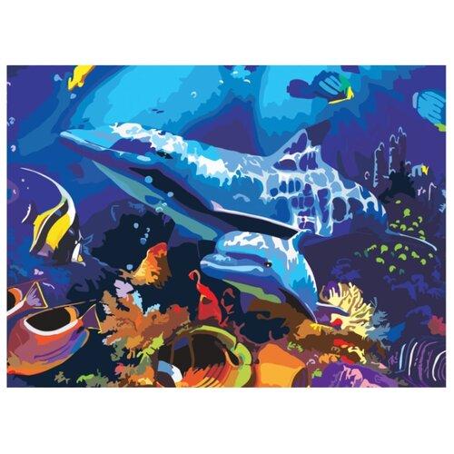 Остров сокровищ картина по номерам Подводный мир 39.5x29 см (661631)