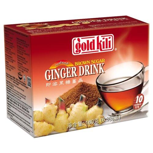 Чайный напиток Gold kili Ginger brown sugar растворимый в пакетиках, 10 шт. 1pack brown sugar ginger tea can keep warm against the cold page 5