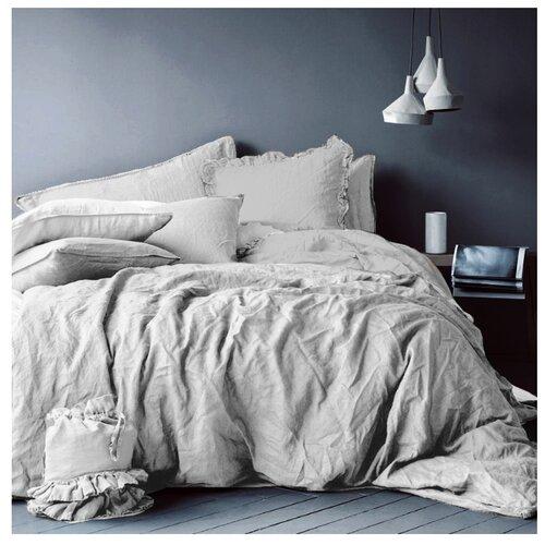 Постельное белье 2-спальное Seta Лен light greyКомплекты<br>