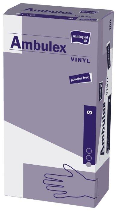 Перчатки смотровые нестерильные Matopat Ambulex Vinyl 50 пар, размер S прозрачный