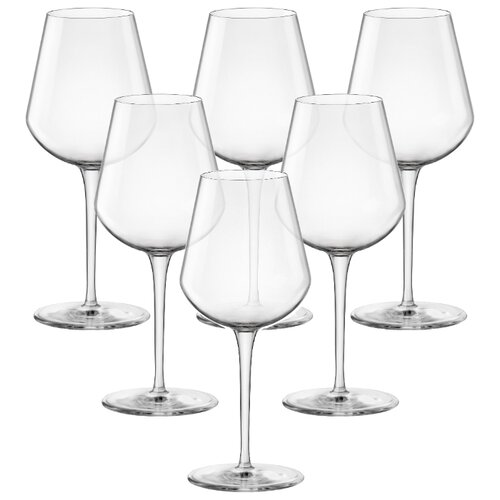 Bormioli Rocco Набор бокалов для вина InAlto Uno Medium 470 мл 6 шт бесцветный набор для виски selecta 7 пр в подарочной упаковке 226041sn2021990 bormioli rocco