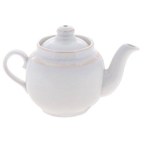 Дулёвский фарфор Заварочный чайник Янтарь 700 мл отводка люстромЗаварочные чайники<br>