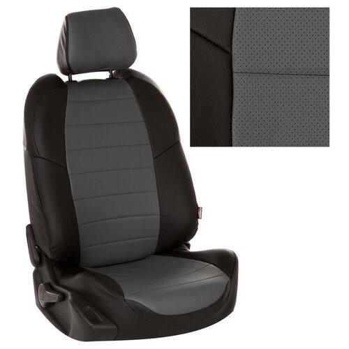 Чехлы на сиденья из экокожи для Peugeot 3008 I (простая комплектация) с 09-16г. Черный, Серый . pe-3008-3008-chese-e