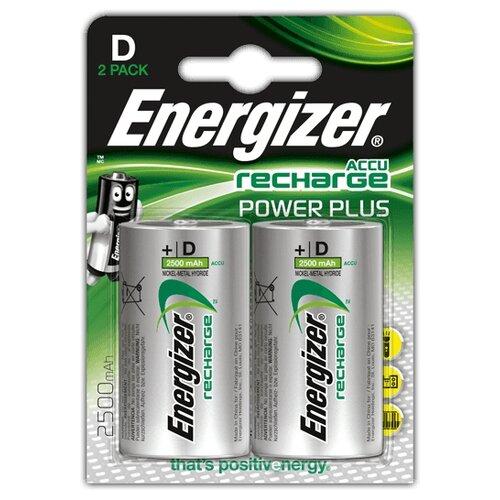 Фото - Аккумулятор Ni-Mh 2500 мА·ч Energizer Accu Recharge Power Plus D 2 шт блистер аккумулятор ni mh 2600 ма·ч varta recharge accu power 2600 aa 4 шт блистер