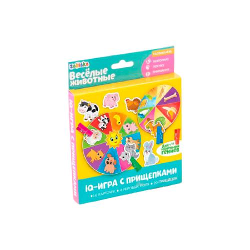 Купить Настольная игра Zabiaka уд IQ-игра с прищепками Веселые животные, Настольные игры