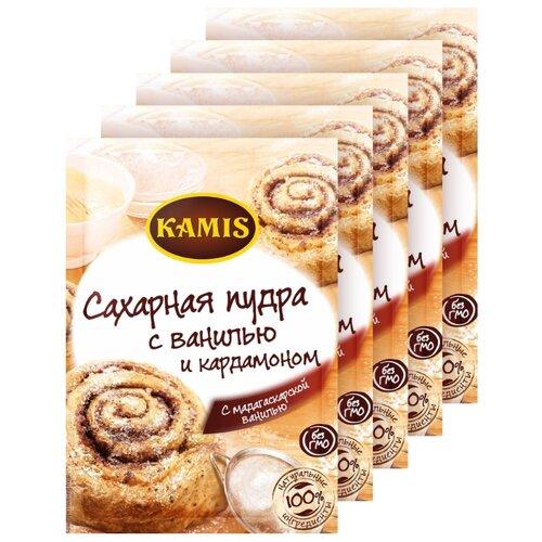 KAMIS Сахарная пудра с ванилью и кардамоном 5 шт (5 шт. по 20 г)