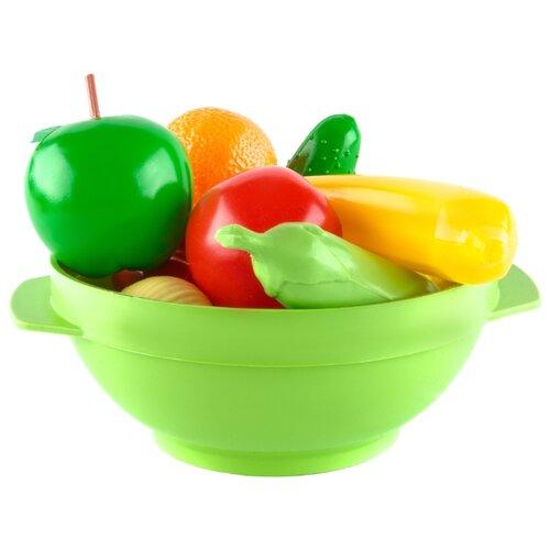 Набор продуктов с посудой Пластмастер Большое ассорти 21017 разноцветный набор посуды пластмастер чайный 21001 разноцветный