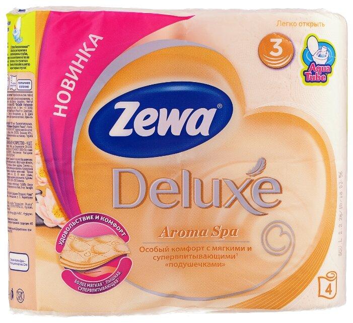 Туалетная бумага Zewa Deluxe АромаСпа трёхслойная