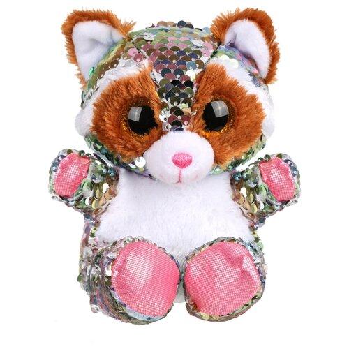 цена на Мягкая игрушка Fluffy Family Енот из пайеток 15 см