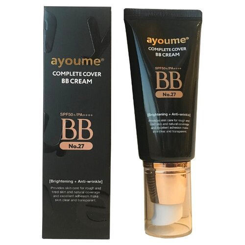 Ayoume BB крем Complete Cover, SPF 50, 50 мл, оттенок: 27 espresso beige lanopearl bb крем 5 в 1 spf 15 50 мл оттенок 1 pink beige