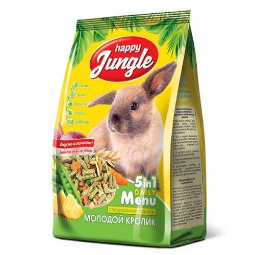 Корм для молодых кроликов Happy Jungle 5 in 1 Daily Menu Специальный рацион 400 г