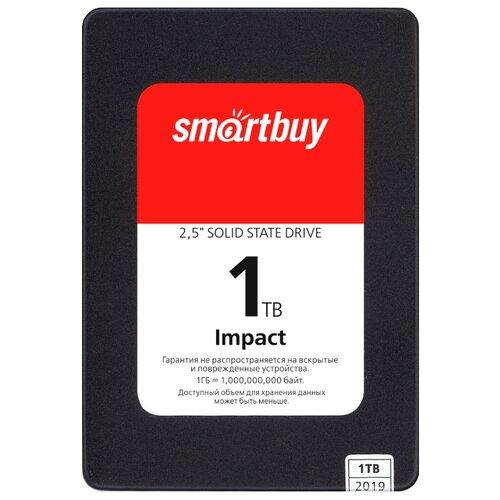 Твердотельный накопитель SmartBuy 1024 GB (Impact 1 TB (SBSSD-001TT-PH12-25S3)) черный