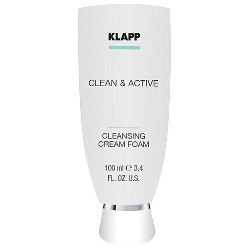 Купить Klapp очищающая крем-пенка для лица Clean & Active, 100 мл