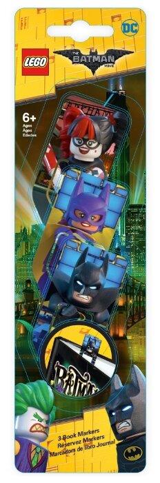 Набор закладок LEGO Batman/Batgirl/Harley Quinn 3 шт.