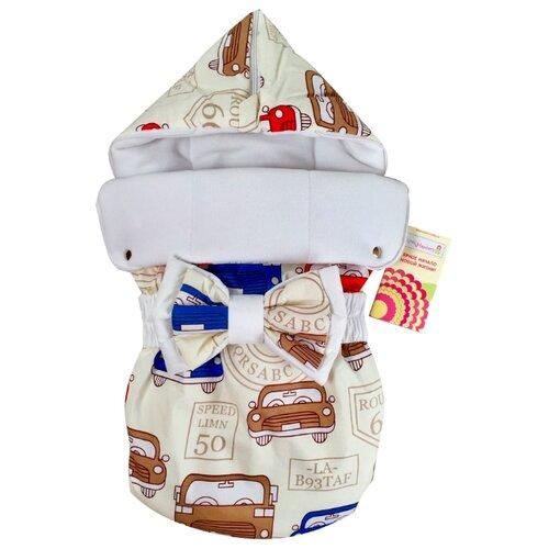 Конверт-мешок СуперМаМкет JustCute демисезонный с бантом 68 см трафикКонверты и спальные мешки<br>