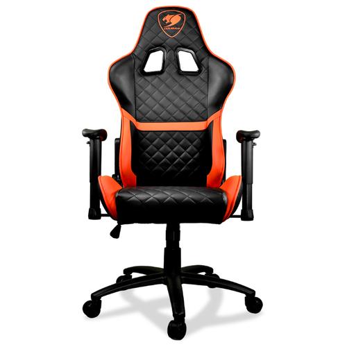 Компьютерное кресло COUGAR Armor ONE игровое, обивка: искусственная кожа, цвет: черно-оранжевый