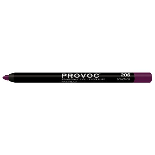 Provoc Гелевая подводка в карандаше для губ Semi-Permanent Gel Lip Liner 206 sensational