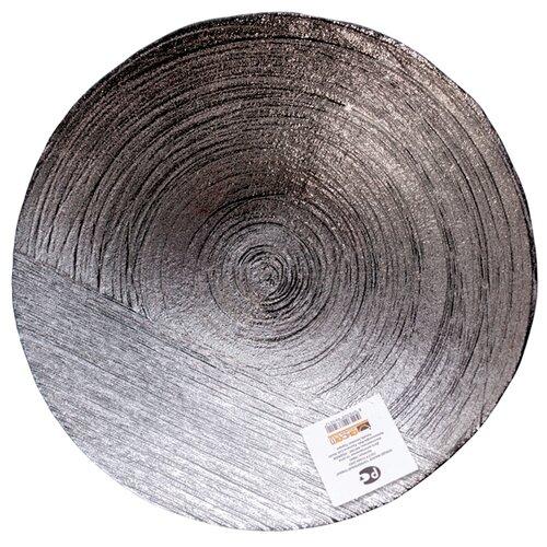 Akcam Блюдо Серебрянный туман 40 см серый