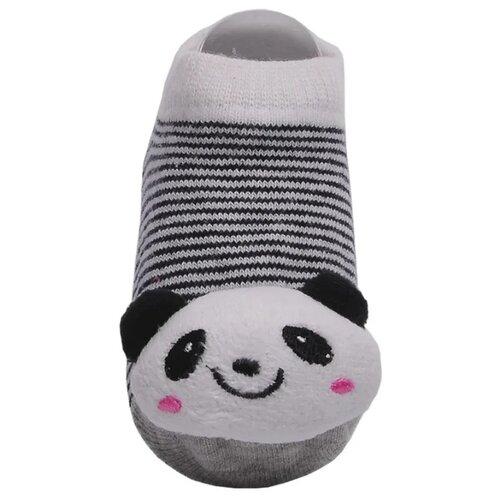 Купить Носки Lansa размер 18-20, серый/полоска