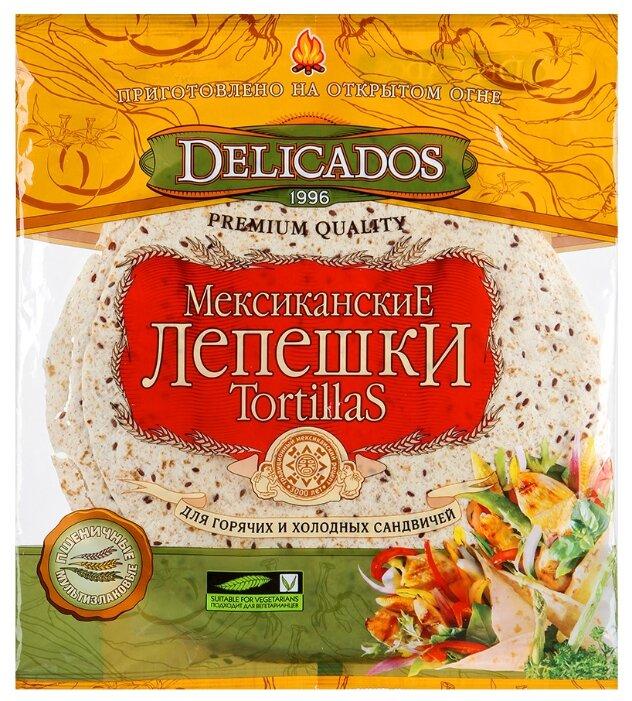 Delicados Лепешки Tortillas пшеничные мультизлаковые бездрожжевые 400 г