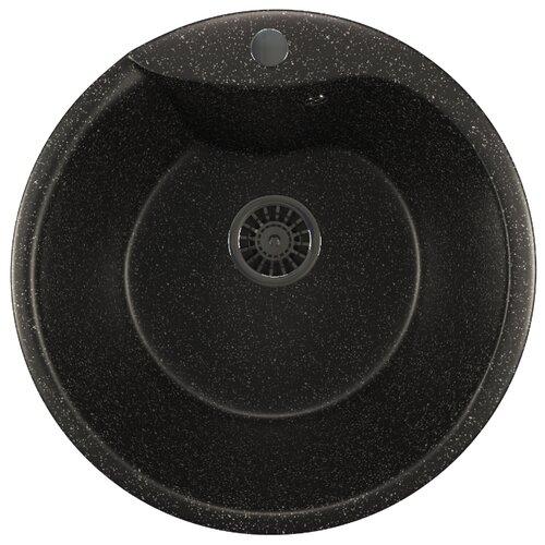 Врезная кухонная мойка 48 см Mixline ML-GM12 черная 308 кухонная мойка rossinka rs48 49s черная