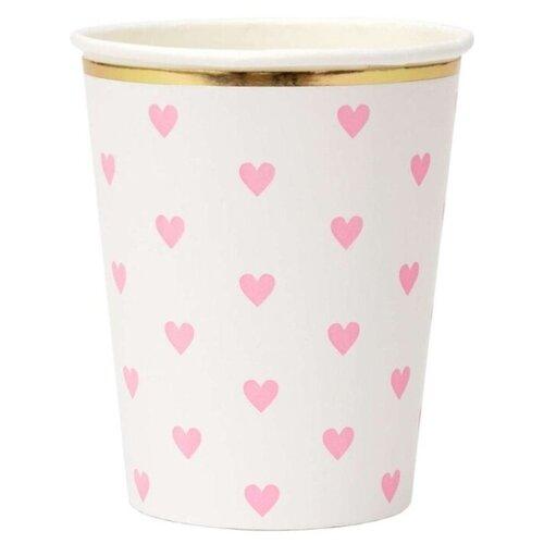 Стаканы с сердечками Палитра Meri Meri стаканы пастельные высокие meri meri