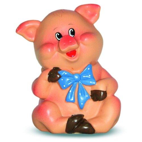 Игрушка для ванной Весна Поросенок с бантиком (В2329) розовый