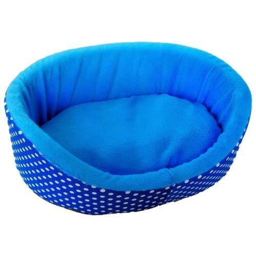 Лежак для кошек, для собак LOORI Дуэт Z0616 49х36х17 см синий
