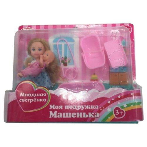 Набор кукол Карапуз Машенька и младшая сестренка, 5 и 2 см, MARY005-GB-BBКуклы и пупсы<br>