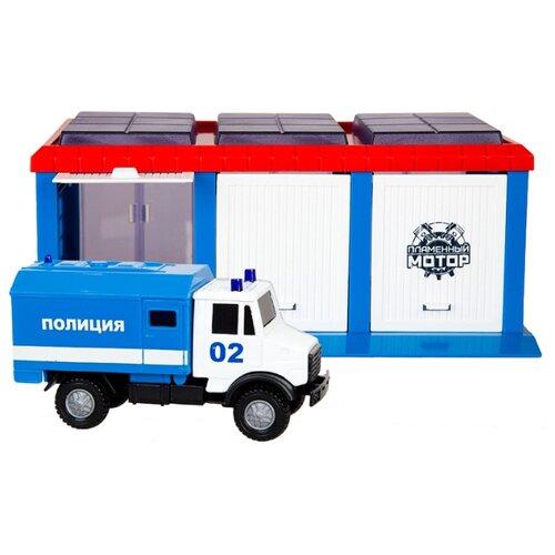 Купить Пламенный мотор Полиция 870270 синий/красный/белый, Детские парковки и гаражи