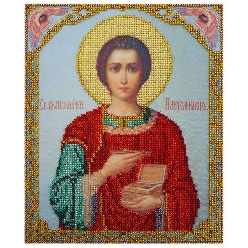 Купить Hobby & Pro Набор для вышивания бисером Святой Великомученик Пантелеймон 19 х 23 см (БН-4004), Наборы для вышивания