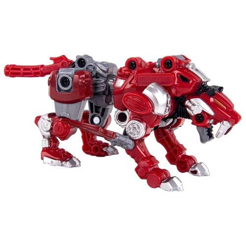 Трансформер YOUNG TOYS Metalions Sabertooth Mini красный/серый трансформер young toys metalions ursa серый