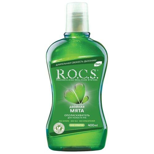 Купить R.O.C.S. ополаскиватель Двойная мята, 400 мл