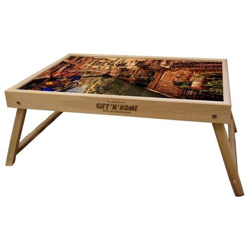 Поднос-столик GiftnHome TL- Venice(b) коричневый/бежевыйПодносы<br>