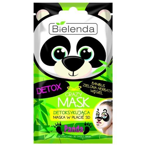 Bielenda Crazy Mask Детокс тканевая маска Панда польская косметика bielenda