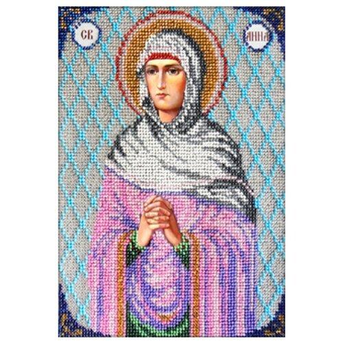 Купить Вышиваем бисером Набор для вышивания бисером Икона Святая Анна 16 х 23 см (L-48), Наборы для вышивания