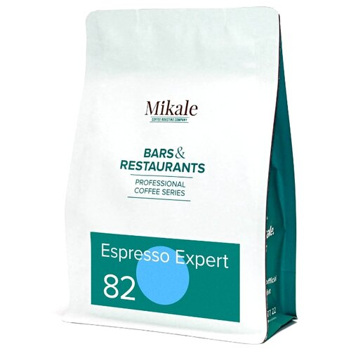 Кофе в зернах Mikale Bars&Restaurants Espresso expert 82, арабика/робуста, 250 г