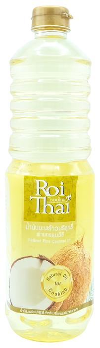 Рафинированное 100% кокосовое масло, 1000 мл, ROI THAI