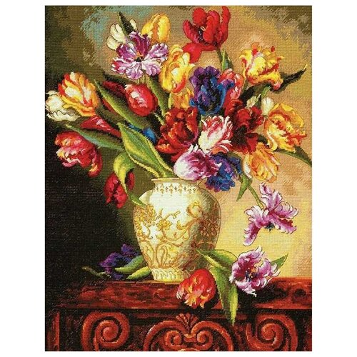 Фото - Dimensions Набор для вышивания Пестрые тюльпаны 30.4 x 38.1 см (70-35305) набор для вышивания dimensions 03896 уютное укрытие46 x 23 см