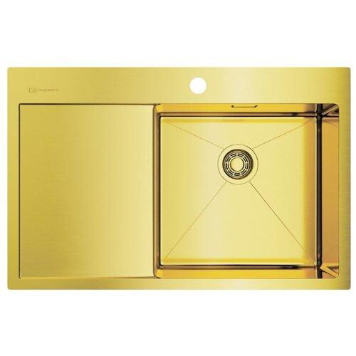 Врезная кухонная мойка 78 см OMOIKIRI Akisame 78-LG-R светлое золото врезная кухонная мойка 65 см omoikiri akisame 65 lg r светлое золото