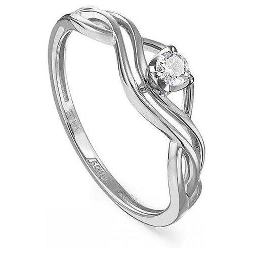 KABAROVSKY Кольцо с 1 бриллиантом из белого золота 11-11242-1000, размер 17.5 фото