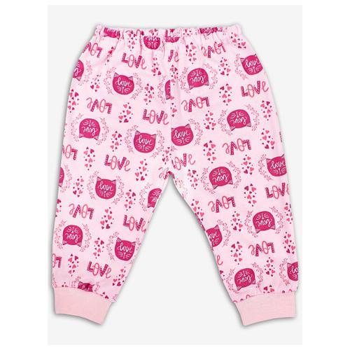 Брюки Веселый Малыш Котенок 33170/one размер 68, розовый брюки веселый малыш морской котик 33170 one размер 80 молочный серый синий
